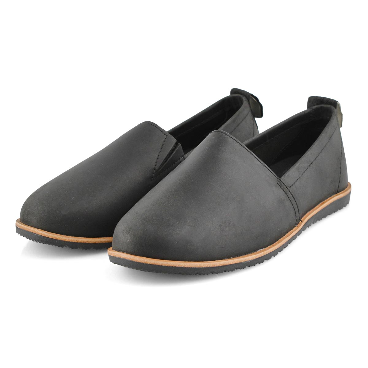 Lds Ella black casual slip on shoe