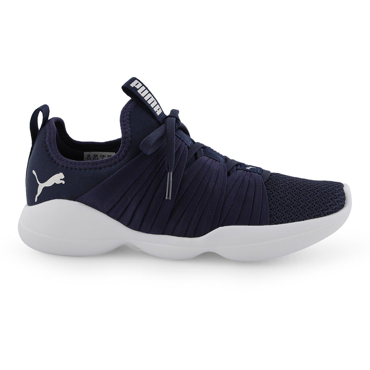 Lds Flourish peacoat/wht slip on sneaker