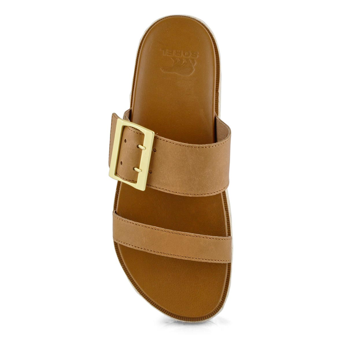 Lds Roaming Buckle Jute cml brn slide