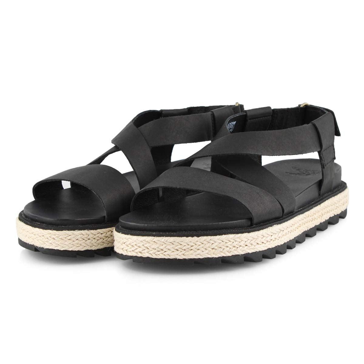 Sandale,RoamingCrissJute, noir, femmes
