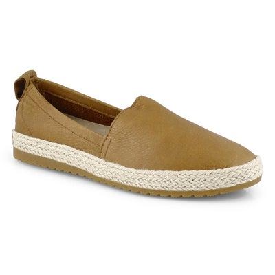 Lds Ella Jute camel brown casual slip on