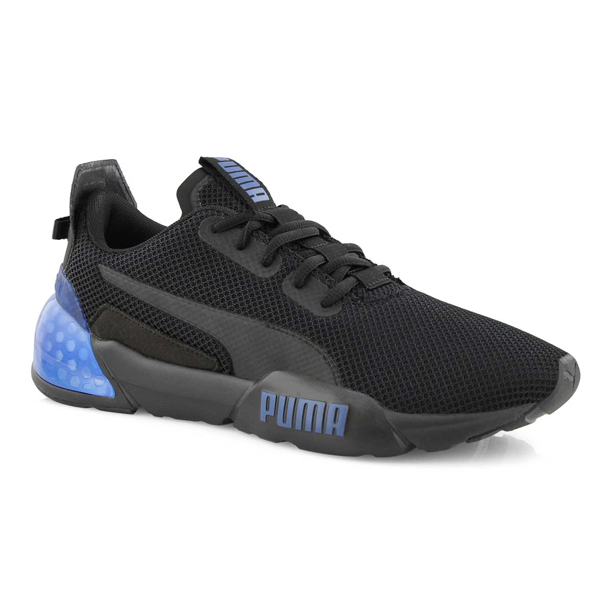 Mns Cell Phase blk/blu lace up sneaker