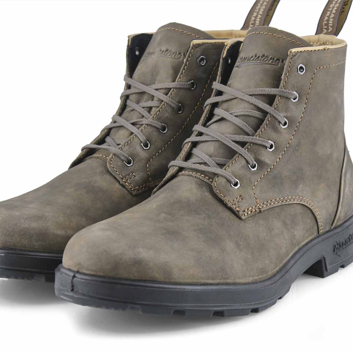 Mns Lace Up rustic brn ankle boot