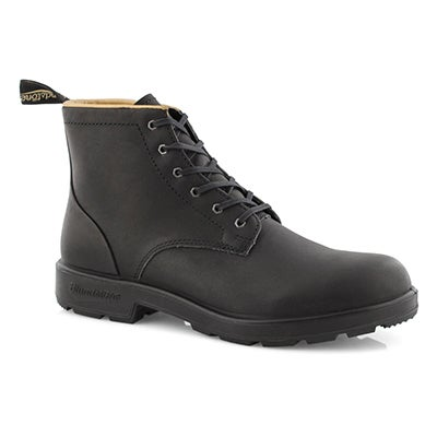 Bottine à lacets Lace Up noire hom.