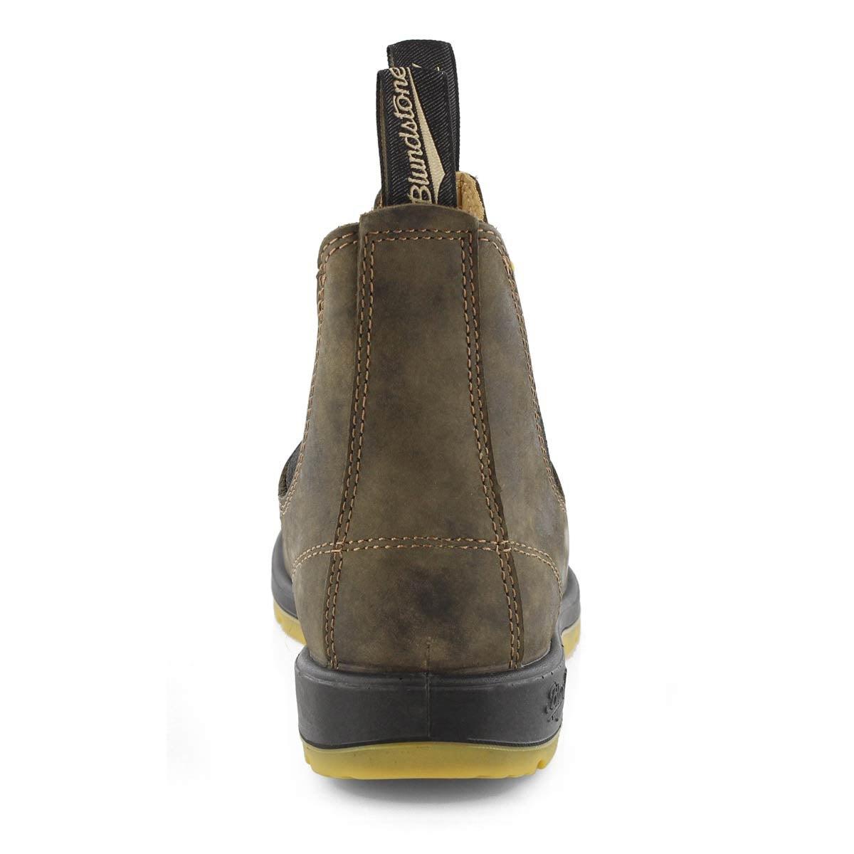 Botte LeatherLined, brn rstq, unisexe