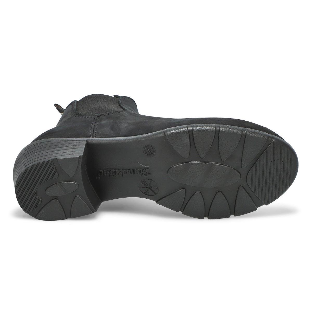 Lds Block Heel black chelsea boot