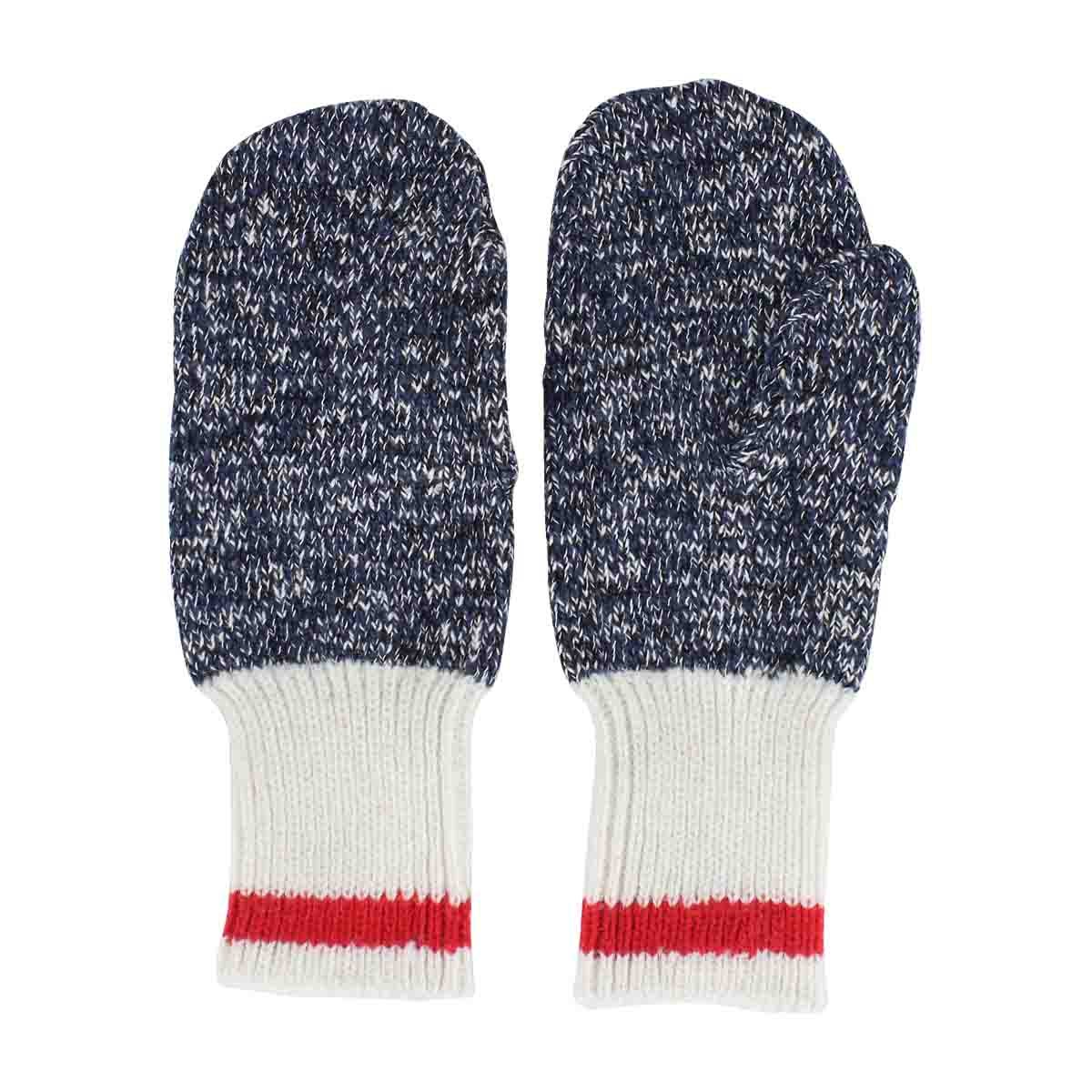 Lds Duray marled blue/ red mitten