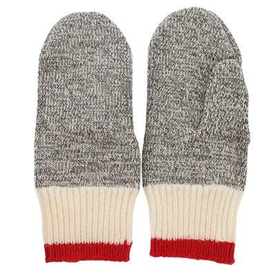 Lds Polypro grey/red mitten