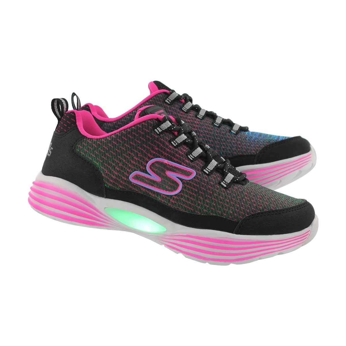 Grls TBA blk/pnk light up sneaker
