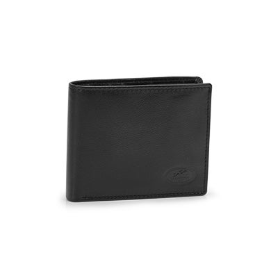 Mns left wing blk RFID secure wallet