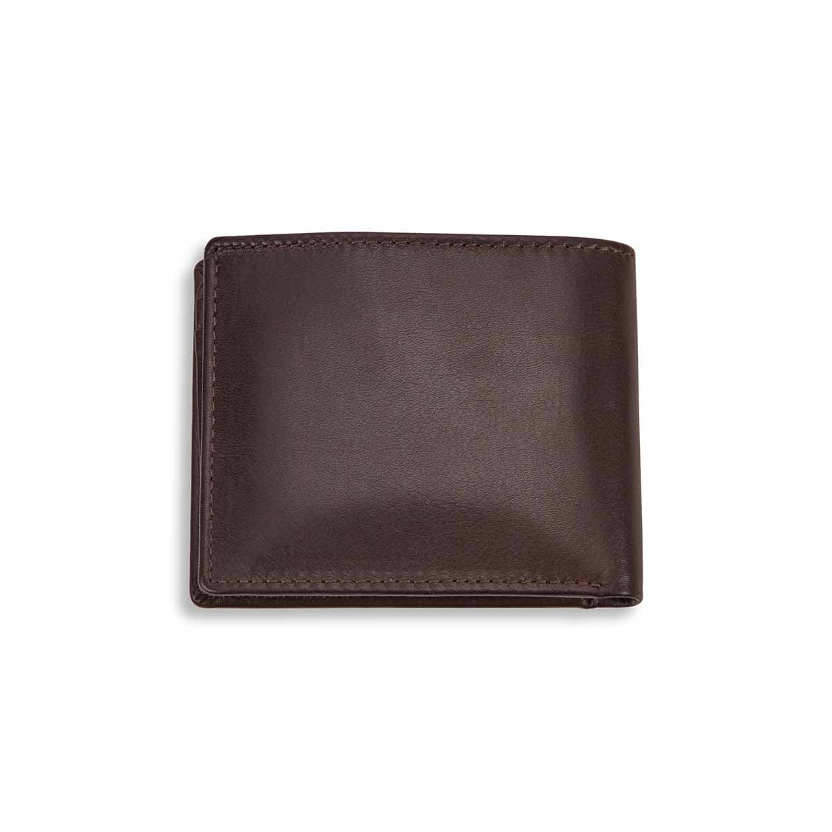 Mns left wing brown RFID secure wallet