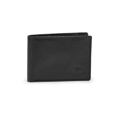 Mns classic black RFID secure wallet