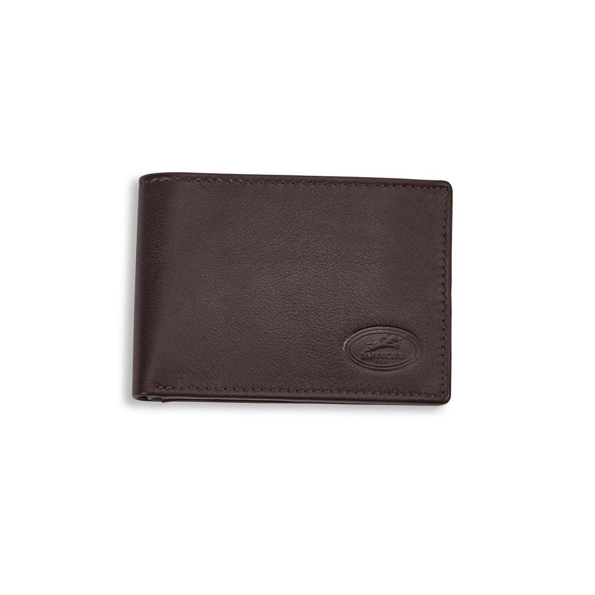 Mns classic brown RFID secure wallet