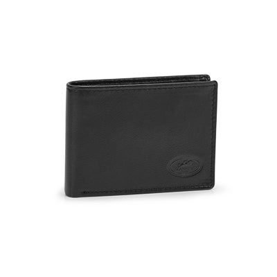 Mns center wing black RFID secure wallet