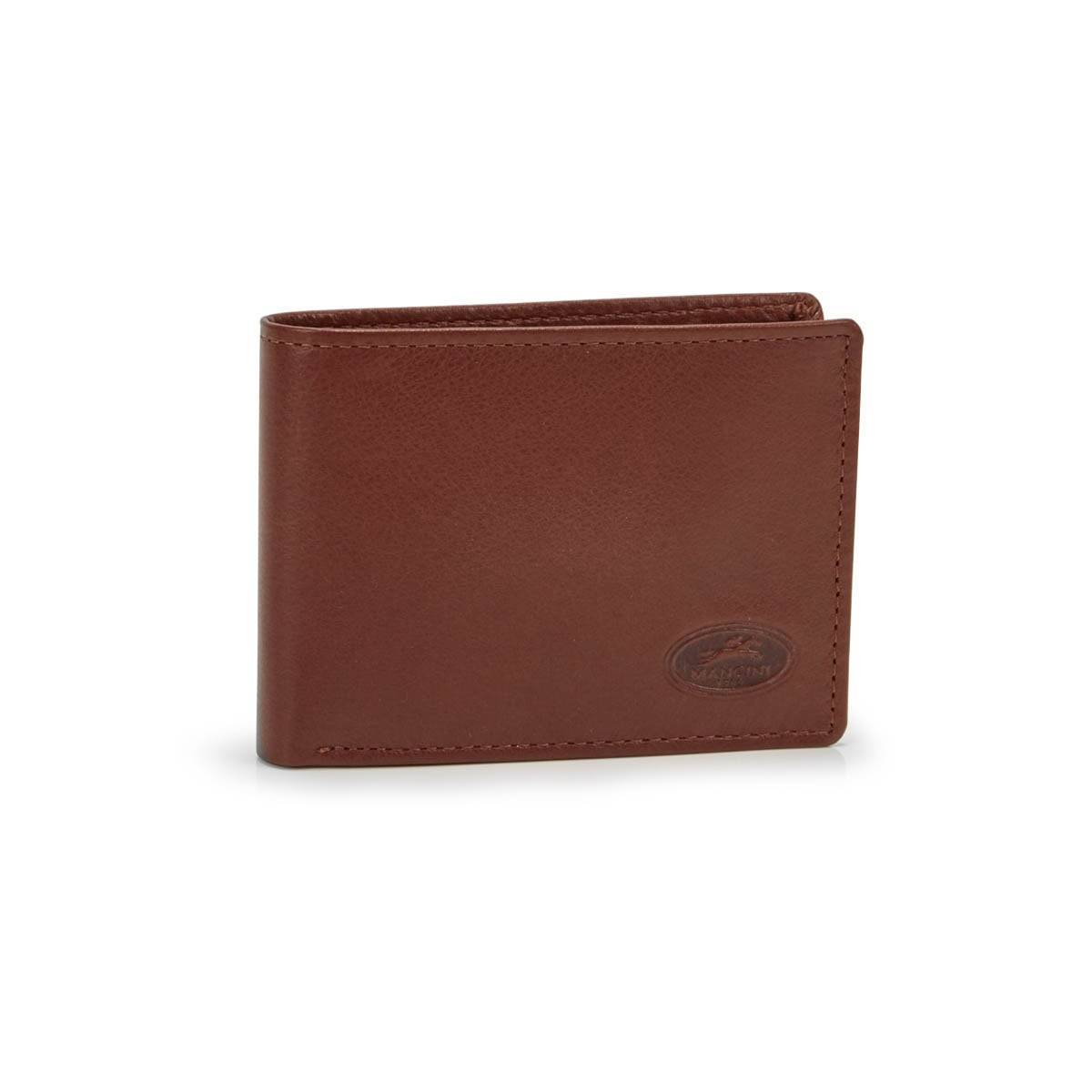 Men's CENTER WING cognac wallet