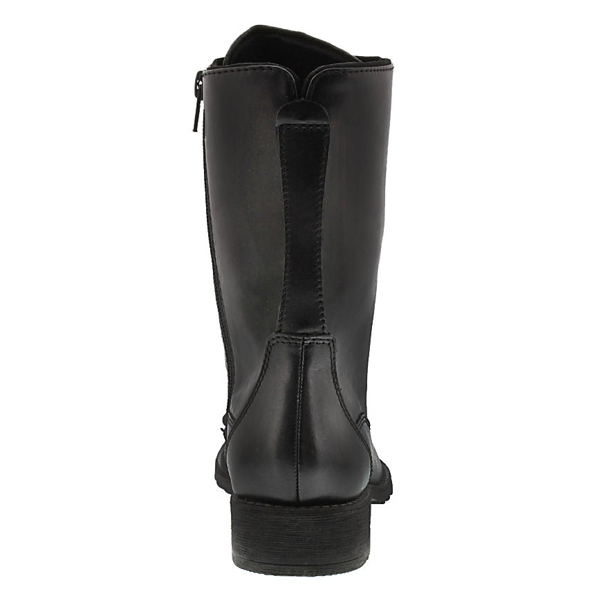Lds Madison blk waterproof lace boot