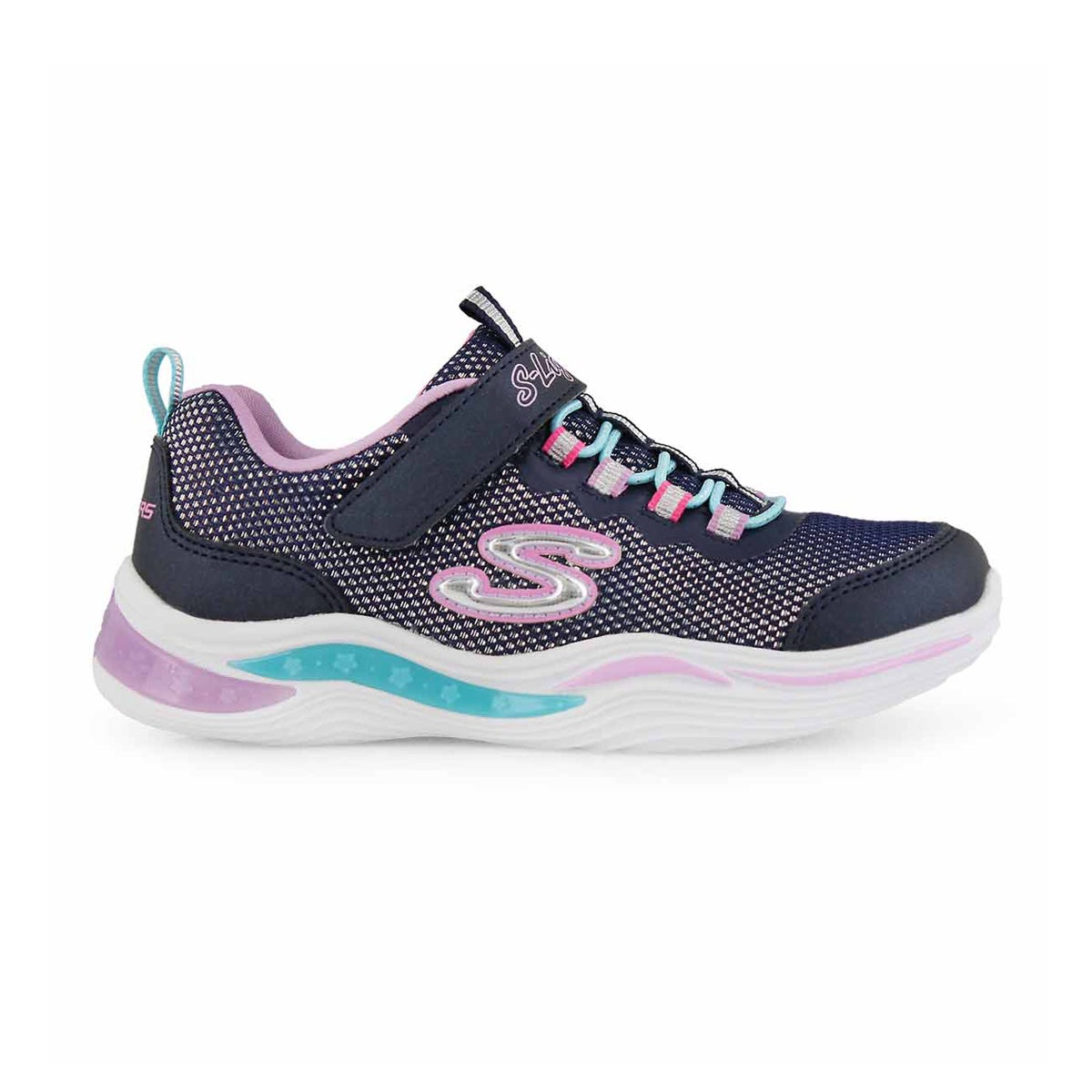 Grls Power Petals nvy/mlti sneaker