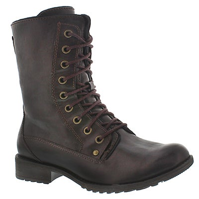 Lds Madison brn waterproof lace boot
