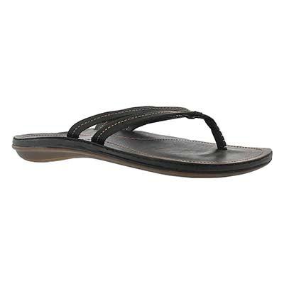 OluKai Women's U'I black thong sandals