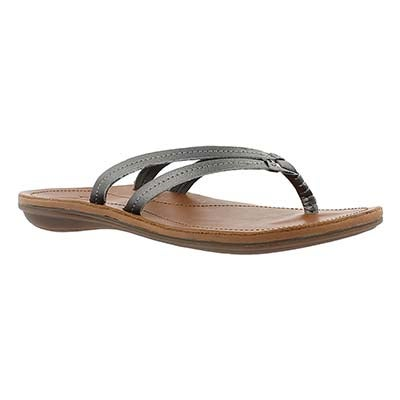 OluKai Women's U'I pewter thong sandals