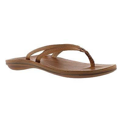 OluKai Women's U'I sahara thong sandals