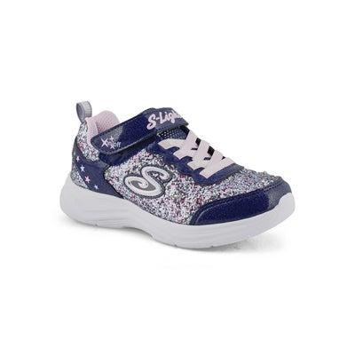 Grls Glimmer Kicks nvy/mlt sneaker