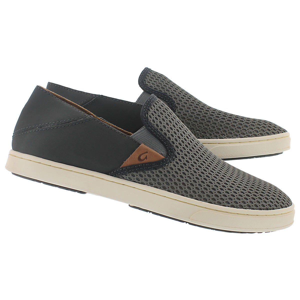Lds Pehuea charcoal slip on casual shoe