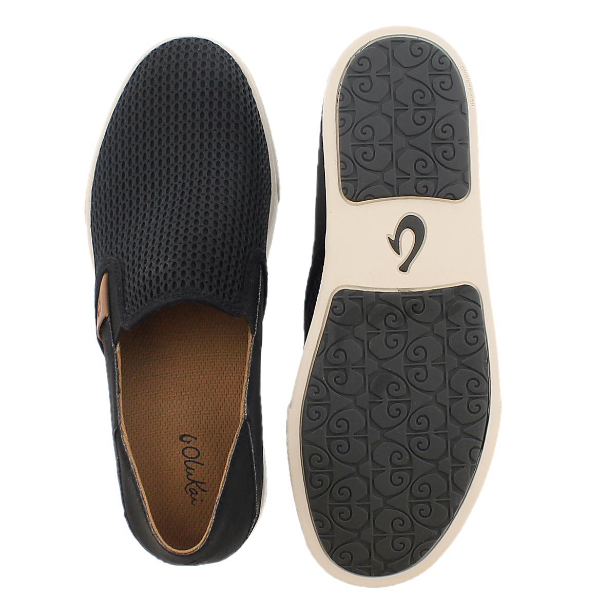 Lds Pehuea black slip on casual shoe