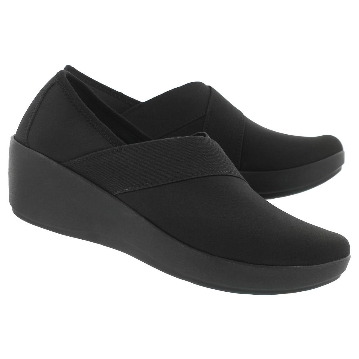 Lds Busy Day Stretch blk/blk wedge