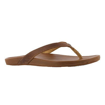 Sandale tong Hi'ona, havane, femme