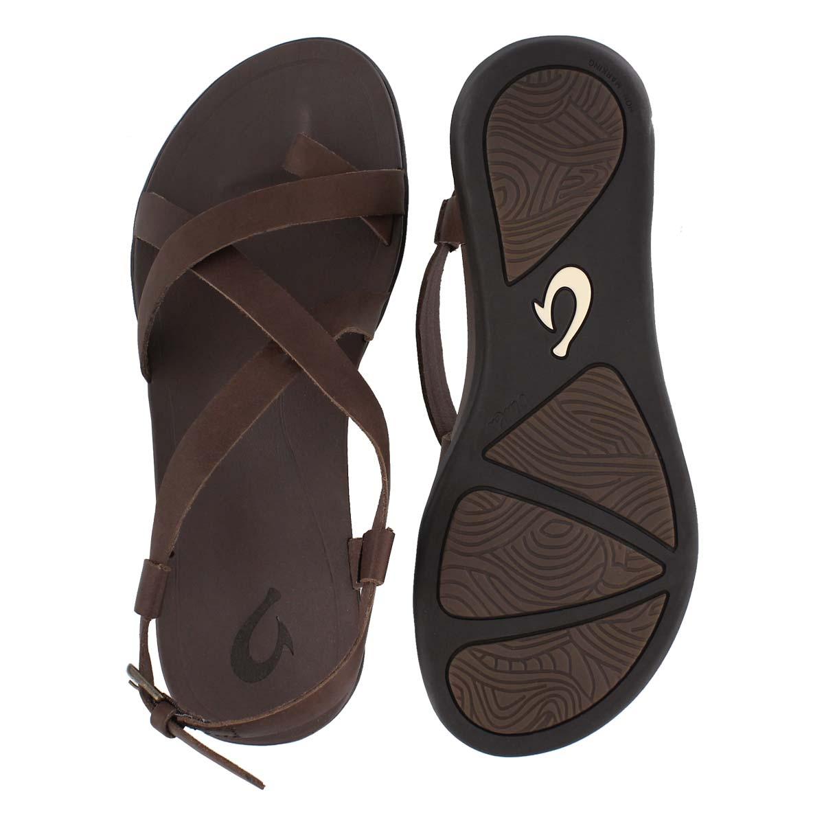 Lds Upena coffee toe loop casual sandal