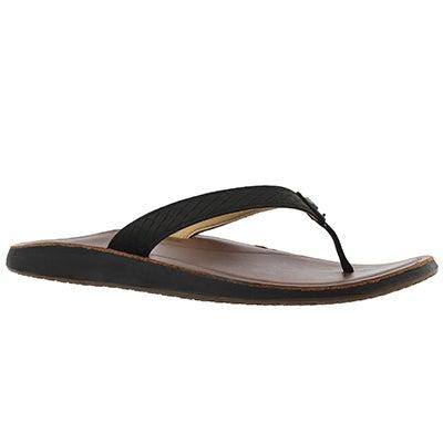 Lds Pua black/bean thong sandal