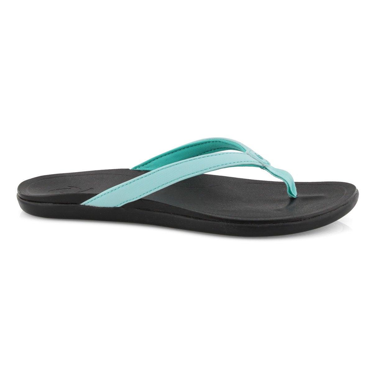 Lds Ho'Opio lagoon/blk thong sandal
