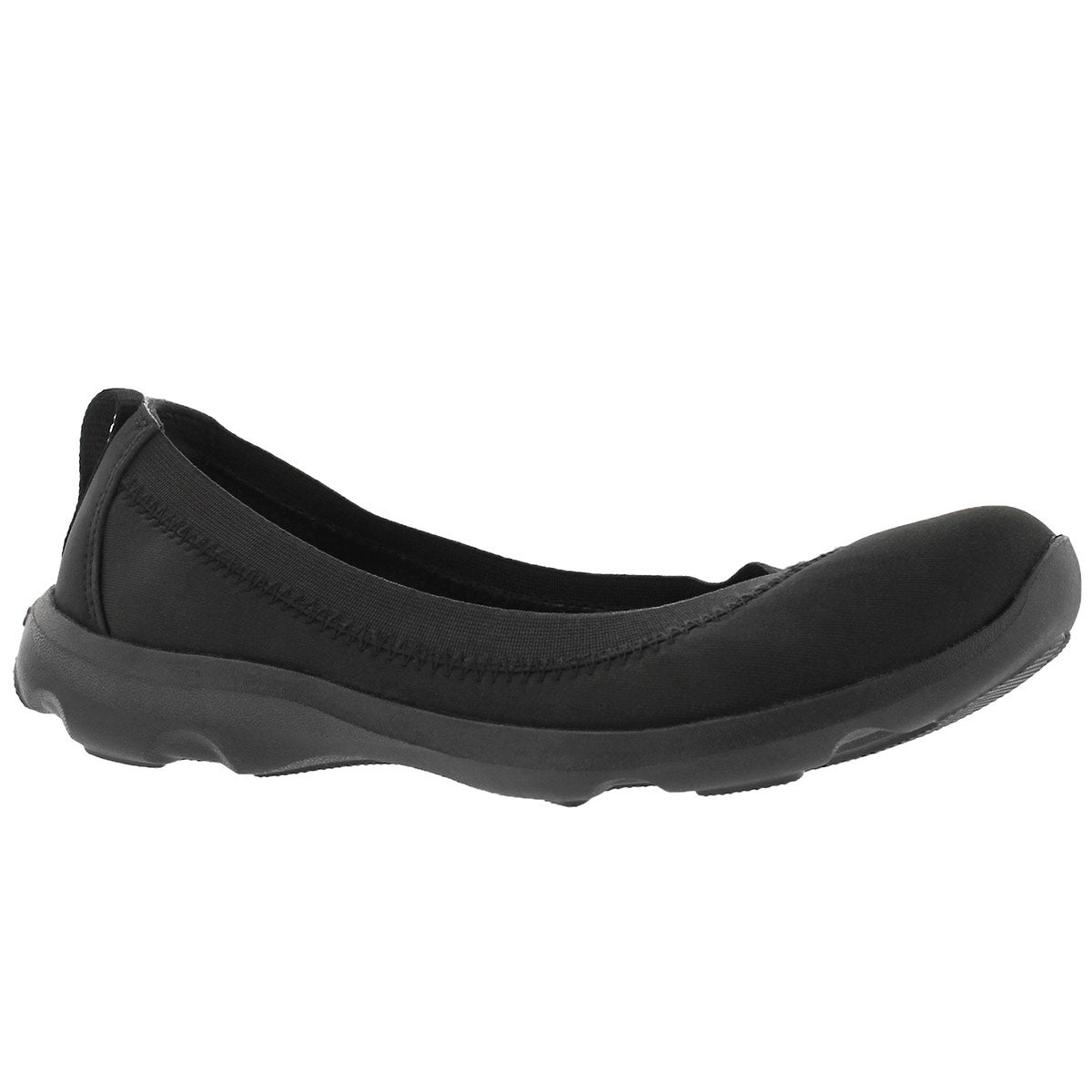 Women's BUSY DAY STRETCH black casual flats