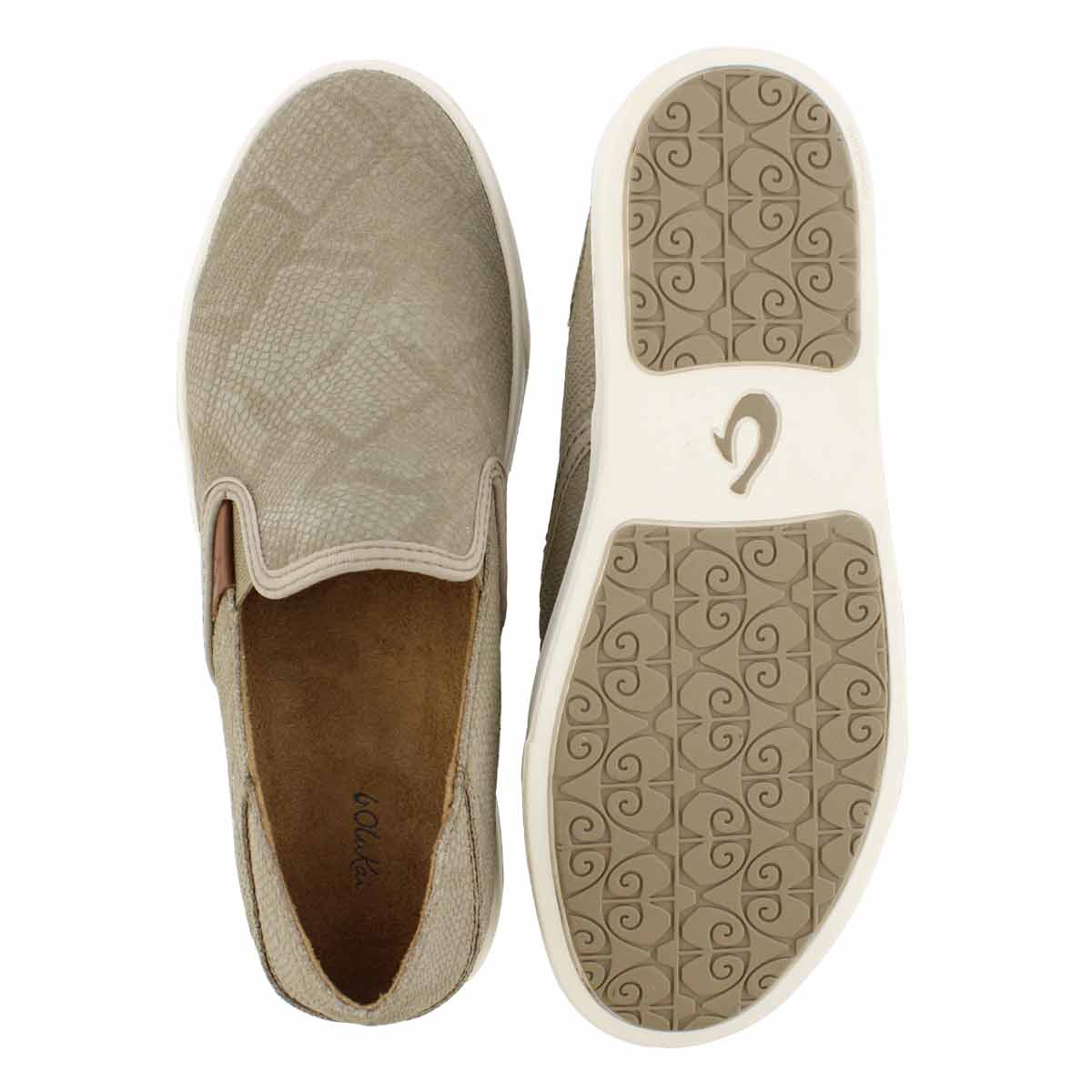 Lds Pehuea Leather cly slip on shoe