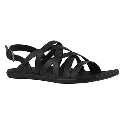Lds 'Awe'Awe blk/blk casual sandal