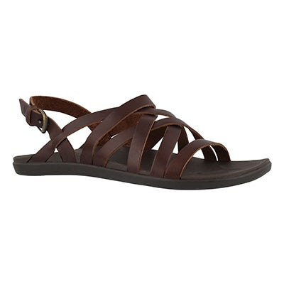 Lds 'Awe'Awe dark java casual sandal