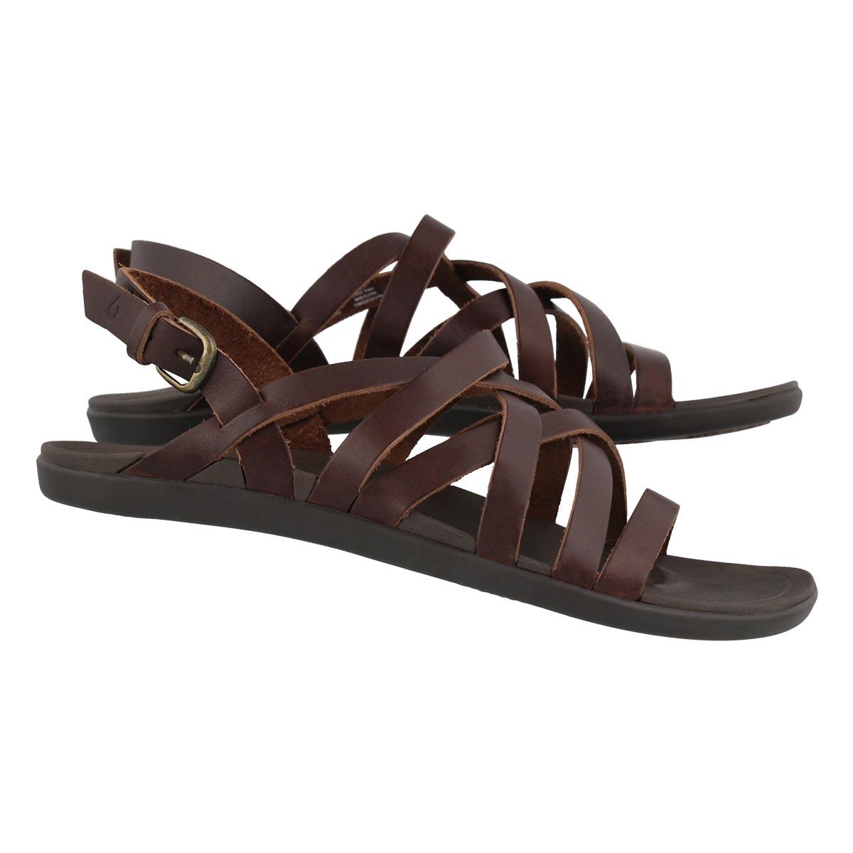 Lds 'Awe'Awe dark java casual sandal