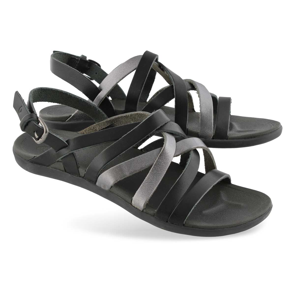 Lds 'Awe'Awe shadow/pwtr casual sandal