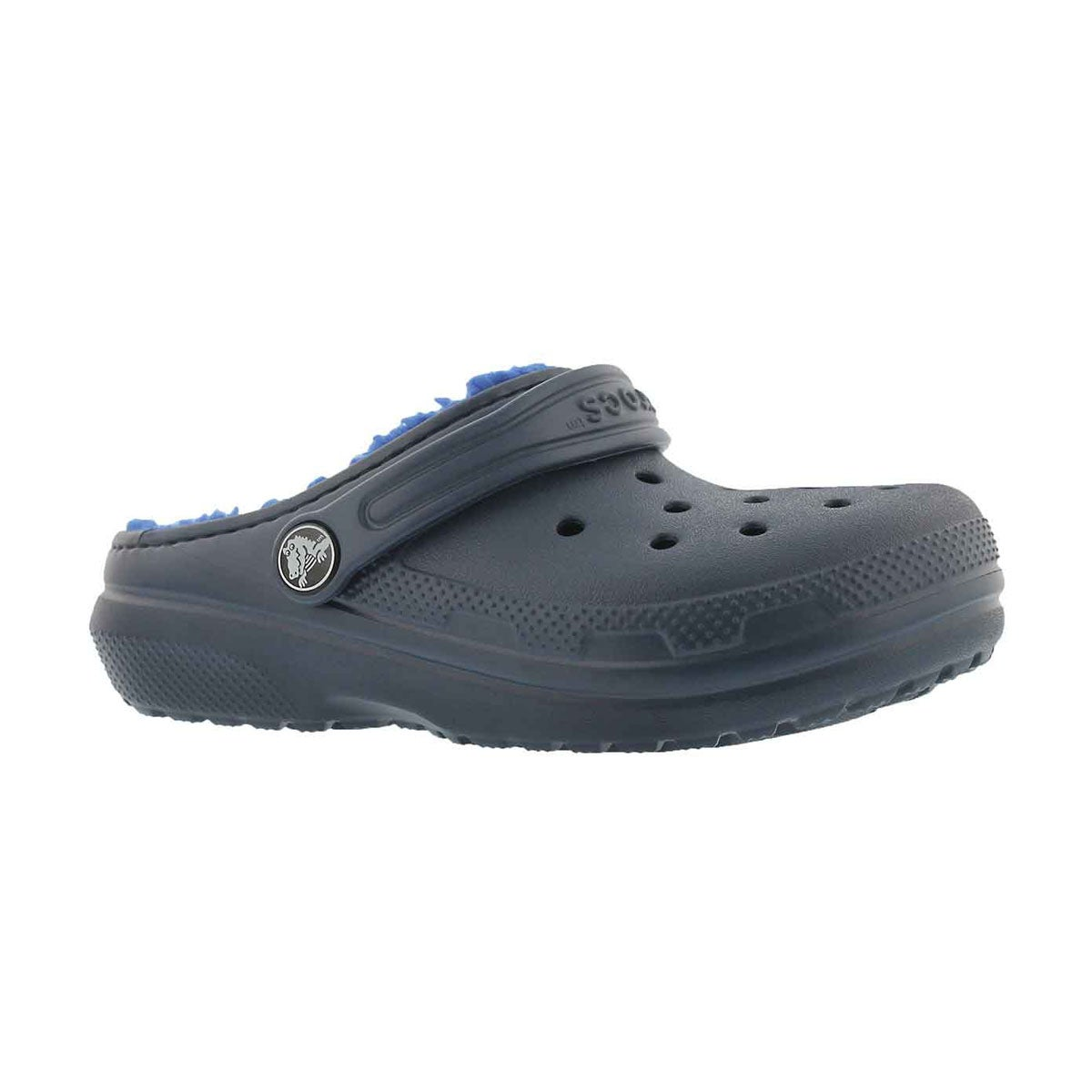 Kids' CLASSIC LINED navy comfort clogs