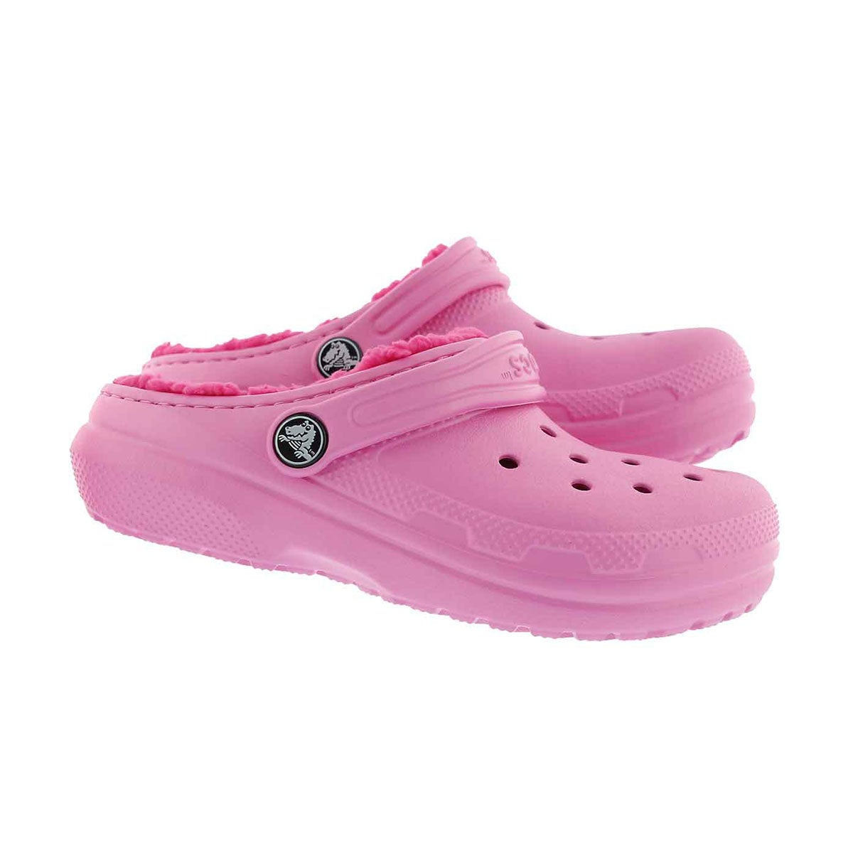 Grls Classic Lined pink comfort clog