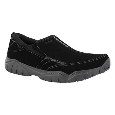 Mns Swiftwater Moc blk/gry slip on shoe
