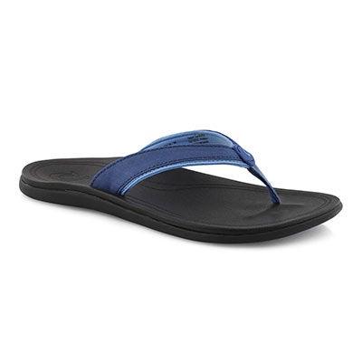 Lds Punua nvy/blk thong sandal