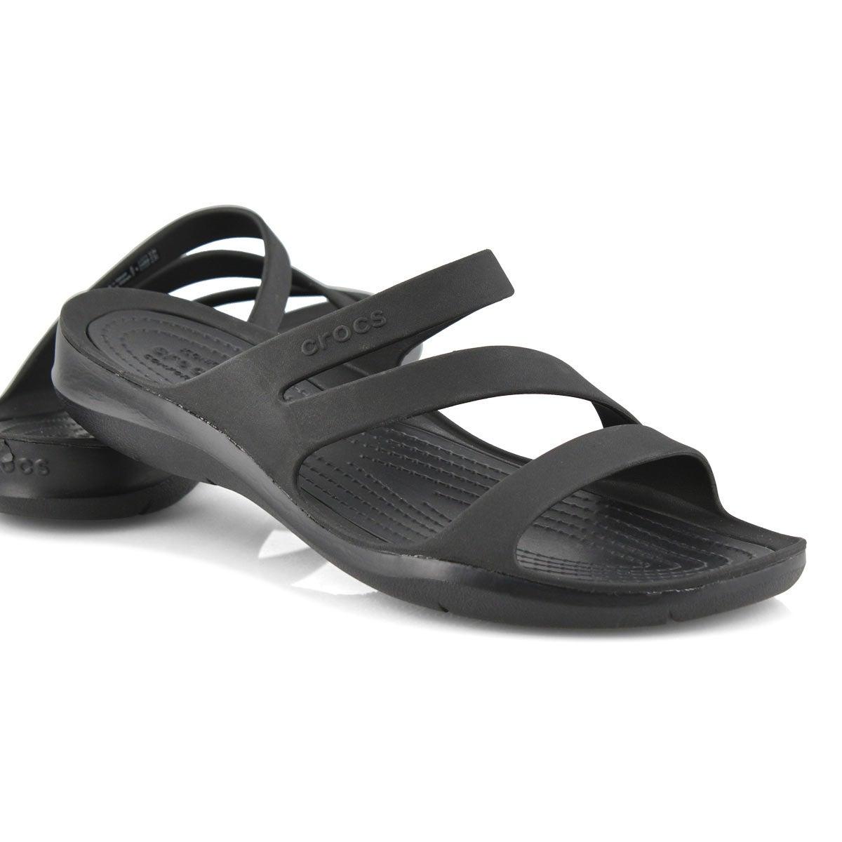 Lds Swiftwater black/black slide sandal