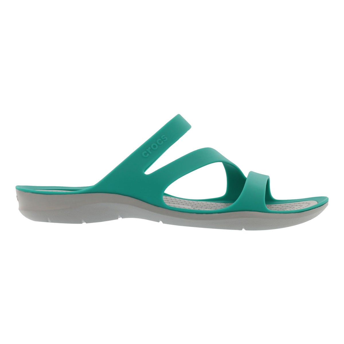 Lds Swiftwater trop teal/gry slide sndl