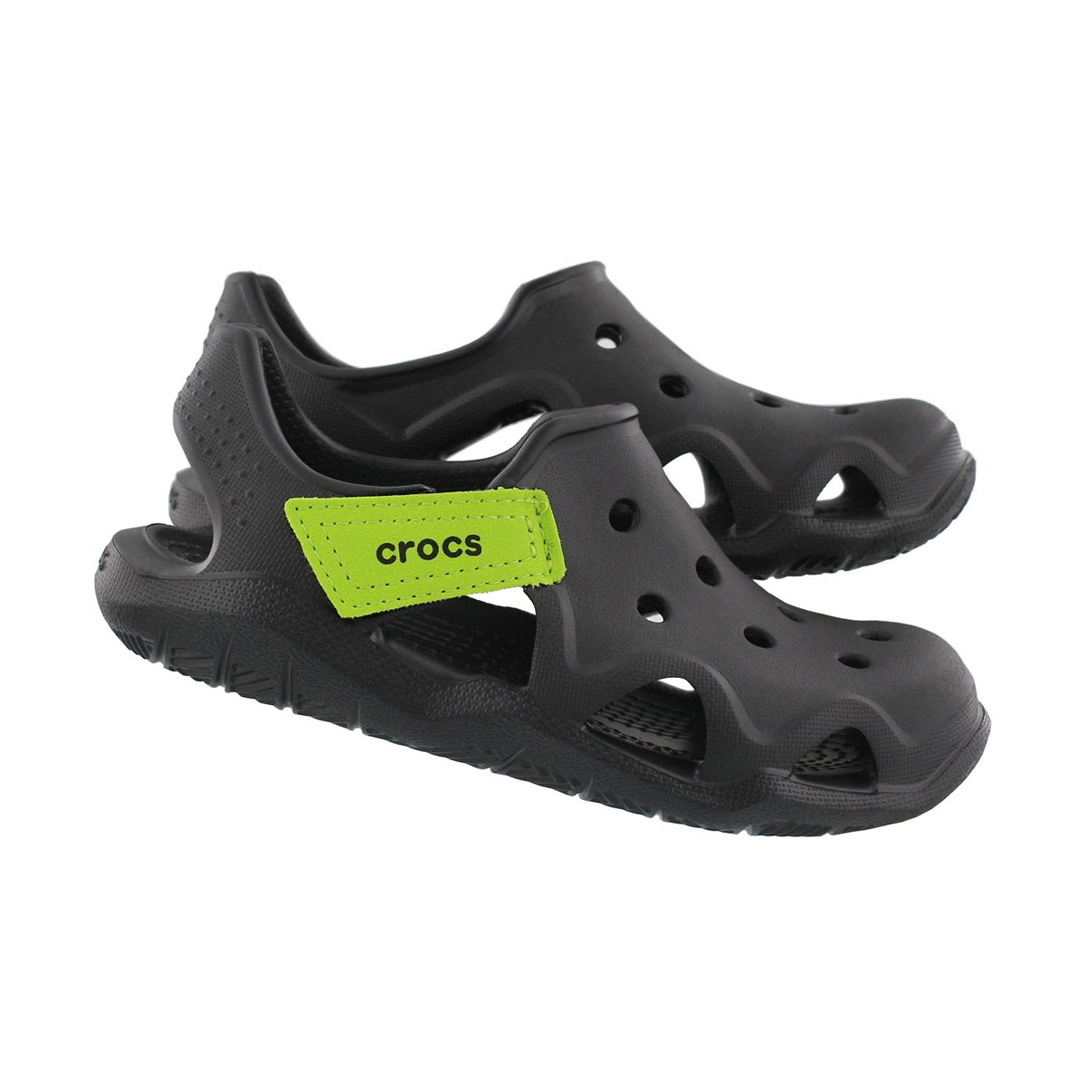 Bys SwiftwaterWave blk/grn casual sandal