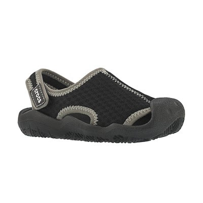 Sandale déc.Swiftwater, noir/blc, garçon