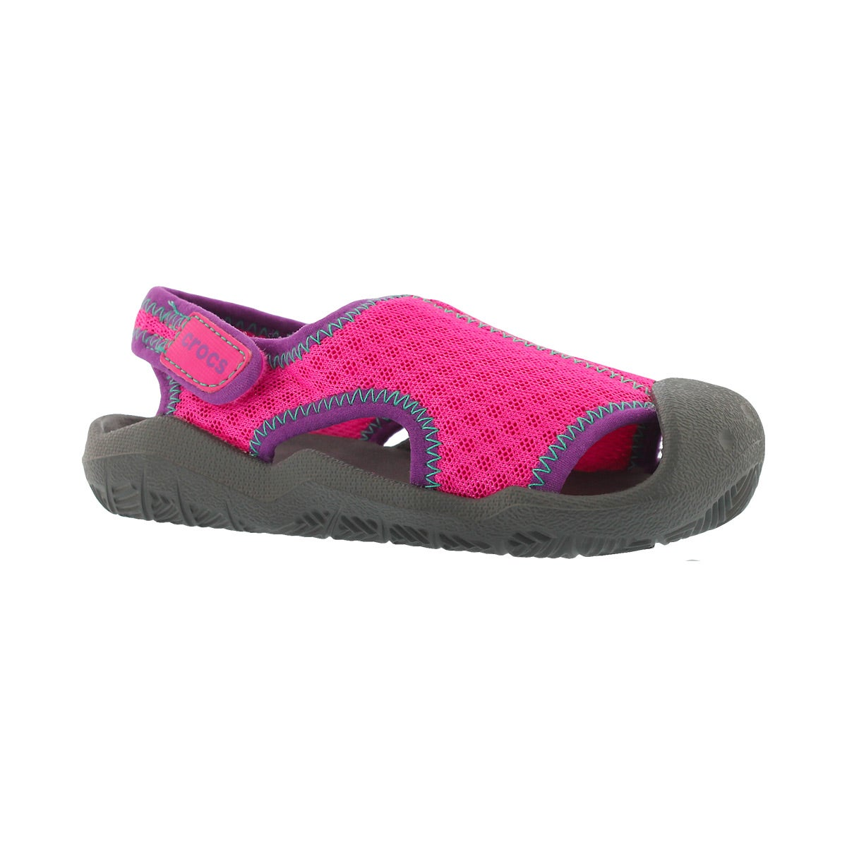 Grls Swiftwater mgnta/gry casual sandal