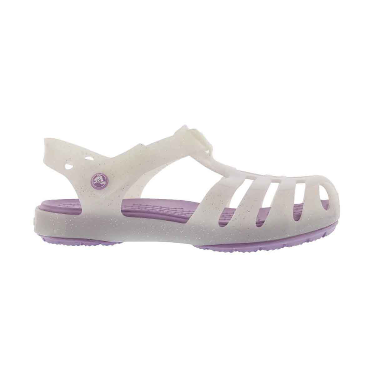 Grls Isabella white casual sandal