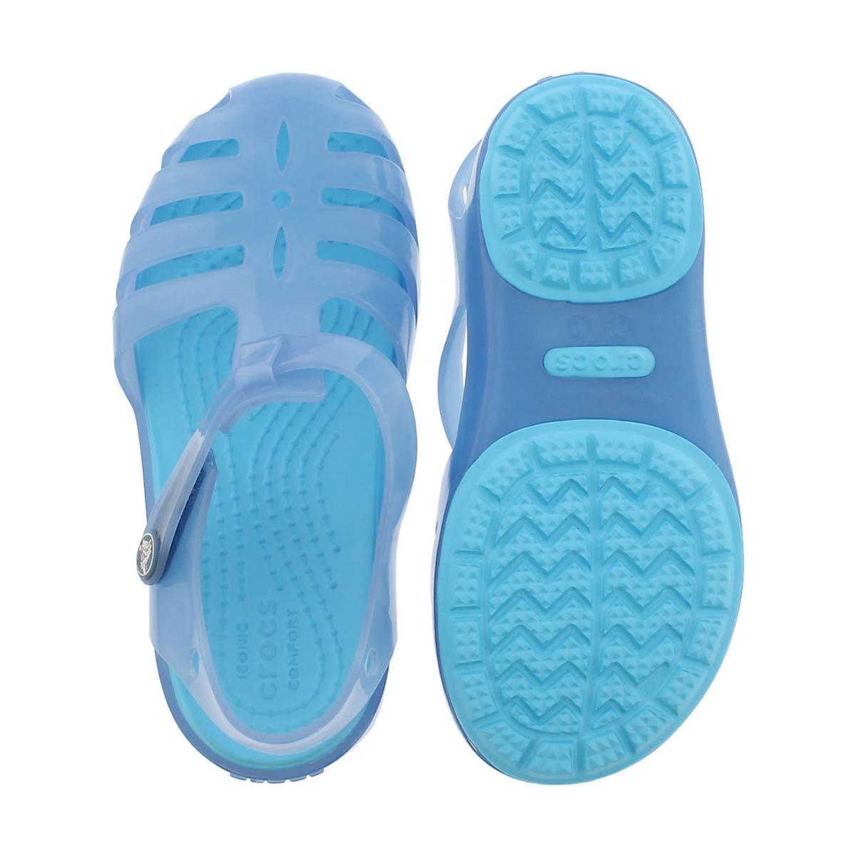Grls Isabella dusty blue casual sandal